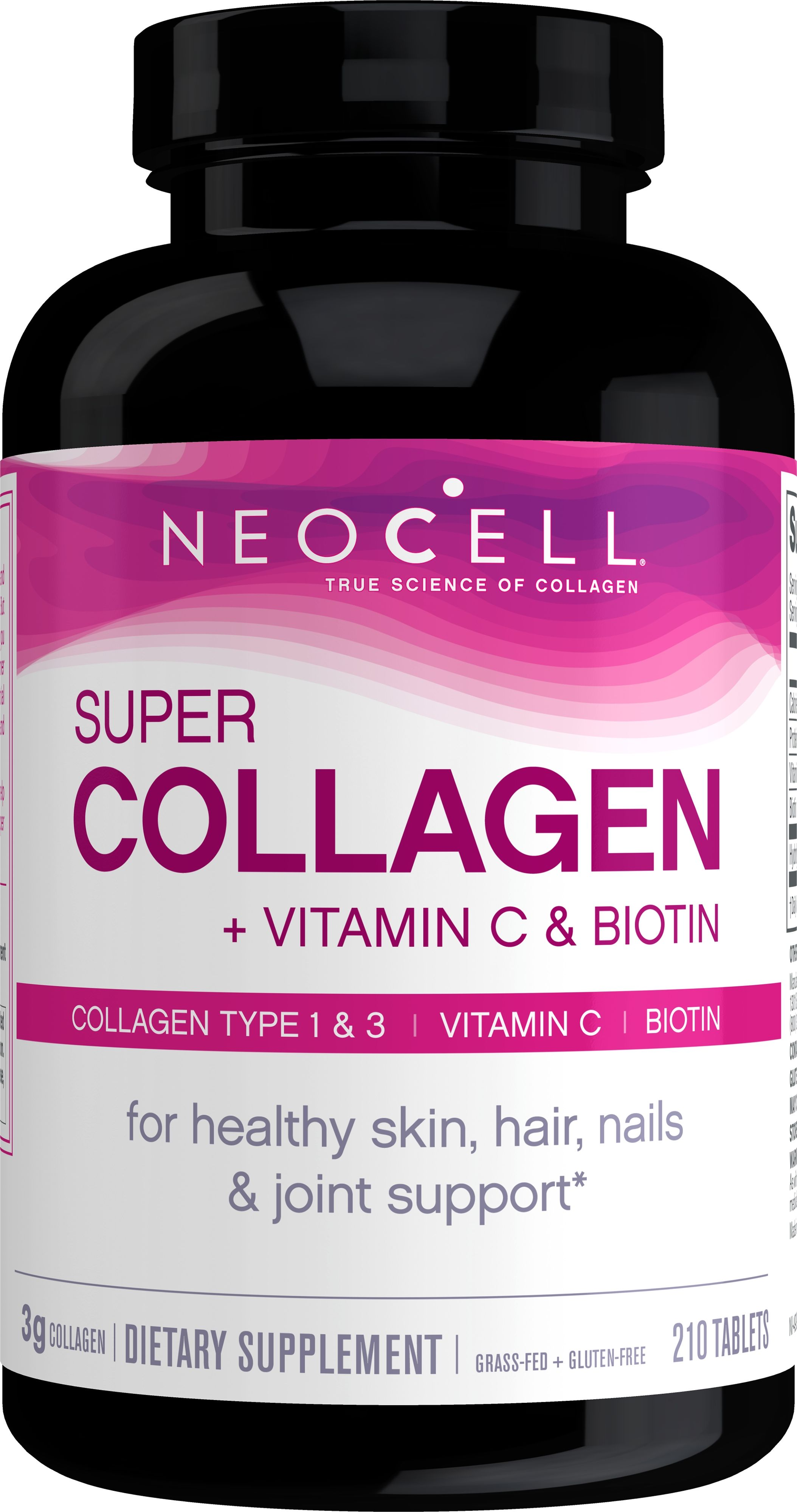 Neocell Super Collagen C 6 000mg Collagen Types 1 3 Plus Vitamin C 210 Tablets Walmart Com Neocell Super Collagen Tongue Health Nail Health