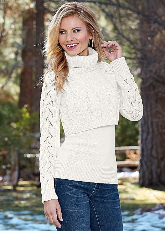 LAYERED TURTLENECK SWEATER | Clothes for Winter | Pinterest ...