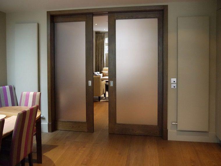 Porte Interne In Vetro.Porte Interne Moderne Abbinamento Legno Vetro Home And