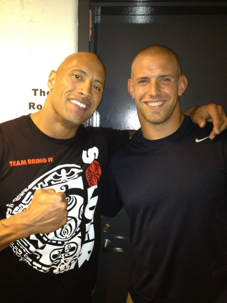 James Laurinaitis and THE ROCK
