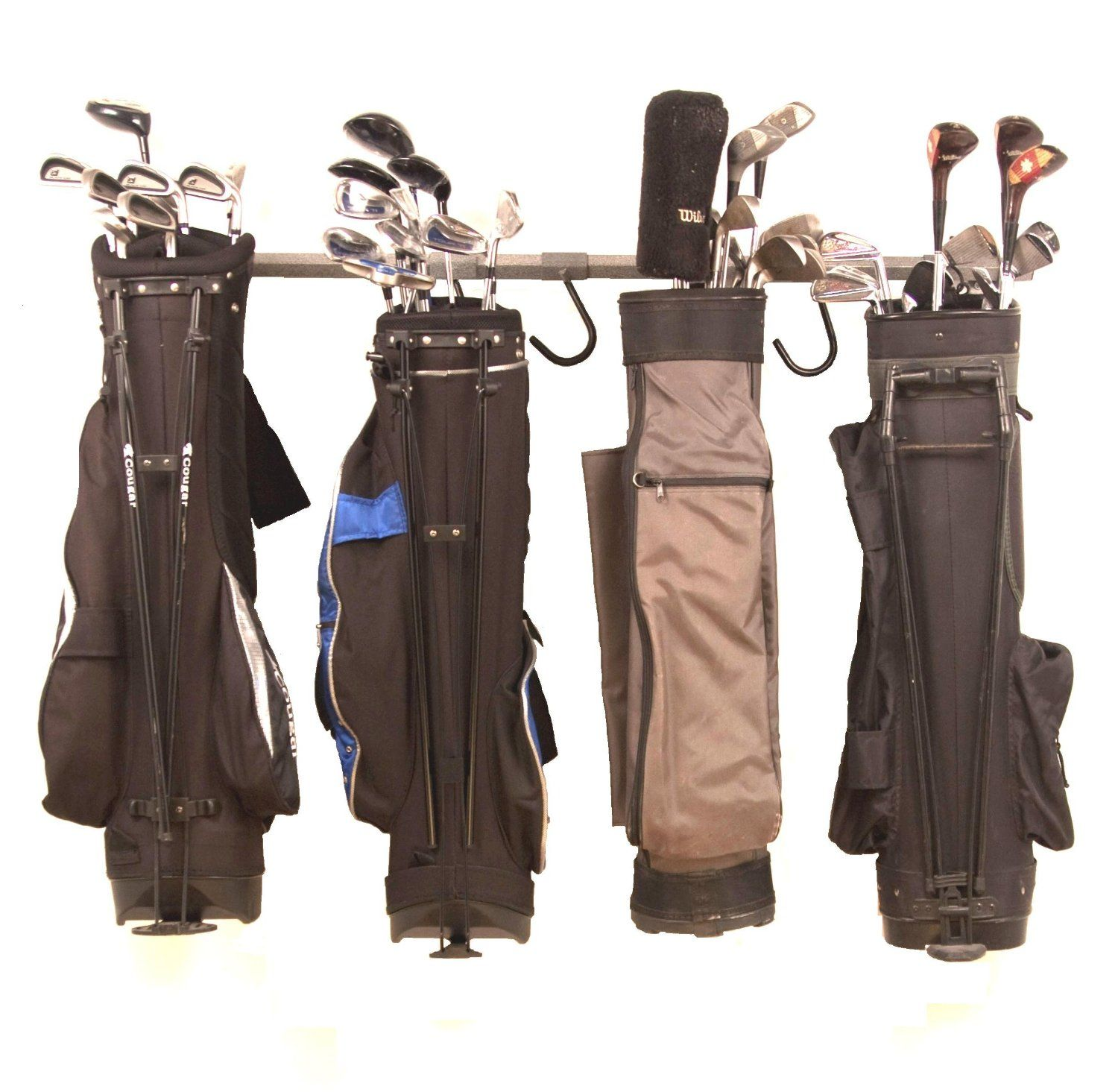 Attrayant The Simple But Effective Design Of These Monkey Bars Golf Bag Rack Allows  You To Store Up To 6 Golf Bags In One Conveniently Small Space!