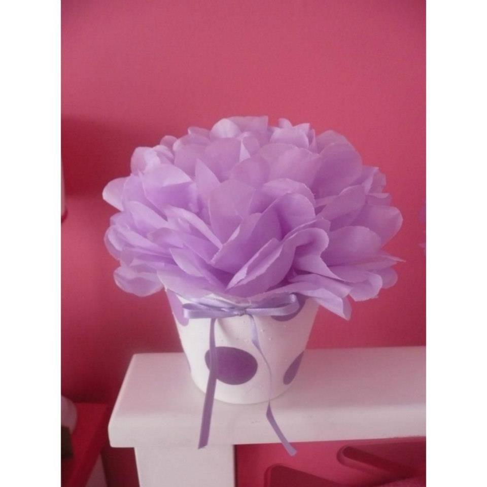 centro de mesa flor de papel Coisas para usar Pinterest