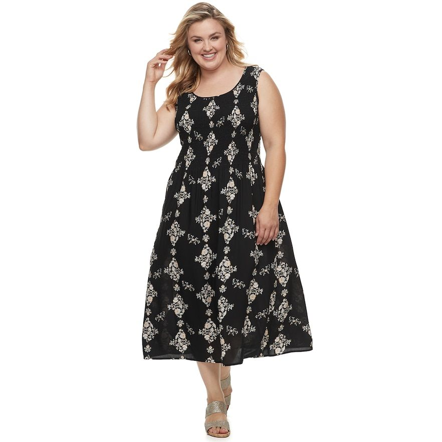 a75b24f188b Plus Size Croft   Barrow® Smocked Tank Dress