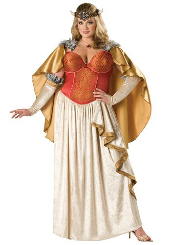 Plus Size Viking Dess Costume Gownvinyl Headpiecenecklacecapefingerless Glovesrule Almighty As A Beautiful And Terrible Norse