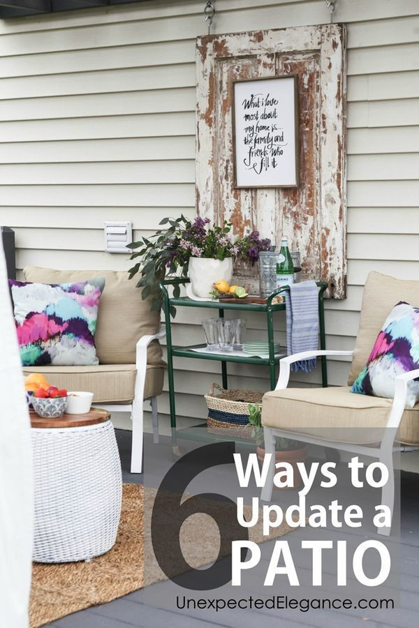 Get 6 ways to update a patio on a budget with these DIY ideas!