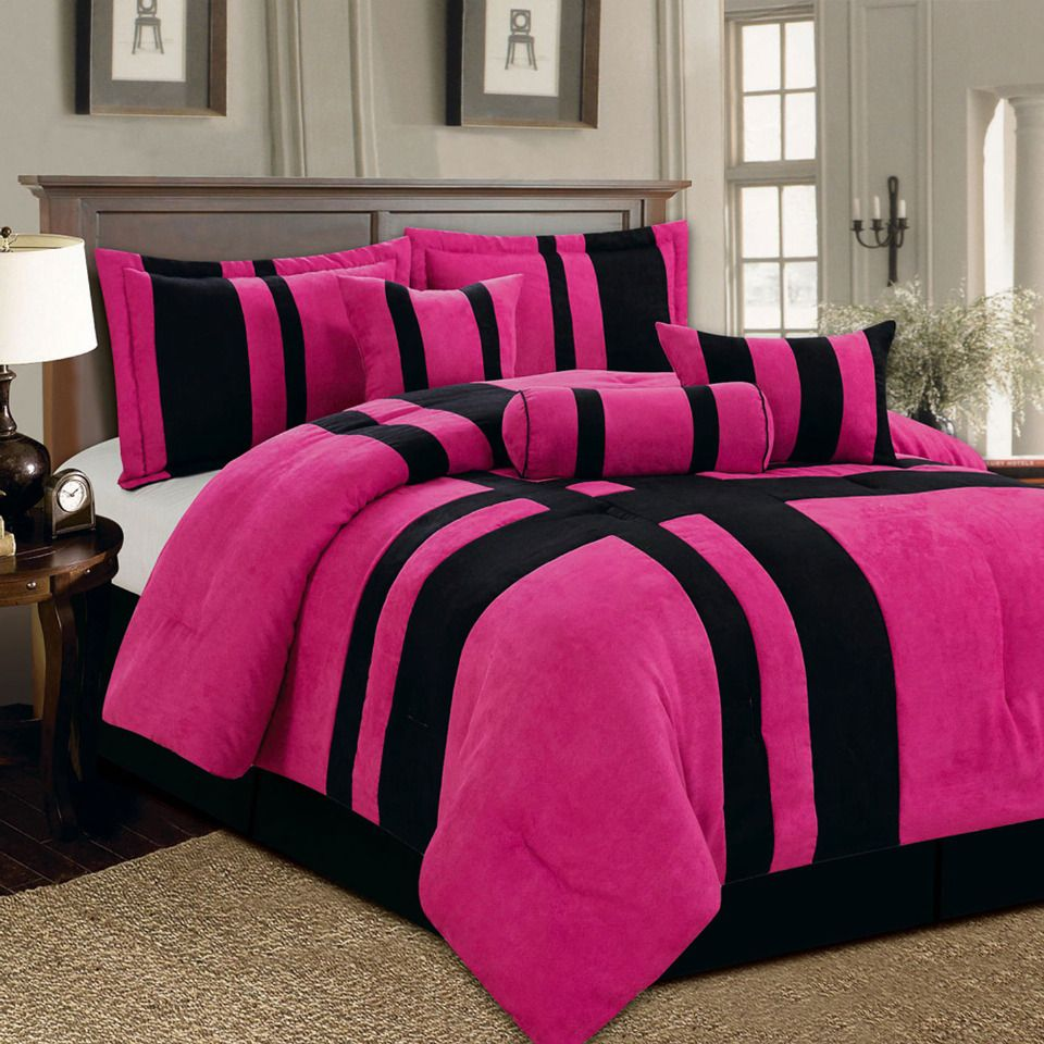 Black and pink bed sheets - Bedding Sets