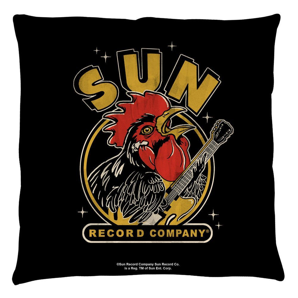Sun Records Rocking Rooster Throw Pillow