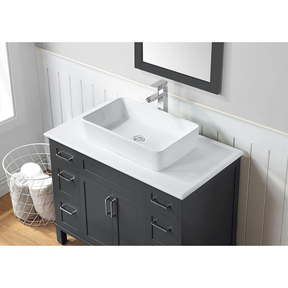 Ove Decors Newbridge 40 In W Bath Vanity In Dark Charcoal W