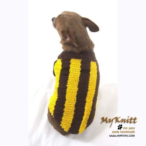 eaeebfadaba Hawthorn The HAWKS Australian Football League Handmade crochet dog sweater  by myknitt #hawks #hawthorn #myknitt #crochet #diy #handmade