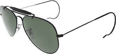 8606b32fac Ray-Ban Men s Outdoorsman Rb3030-L9500-58 Black Aviator Sunglasses ...