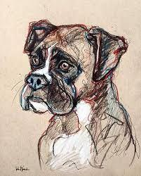 Resultado De Imagen Para Perro Boxer Dibujo Dibujos De Perros Animales Para Pintar Arte Animal