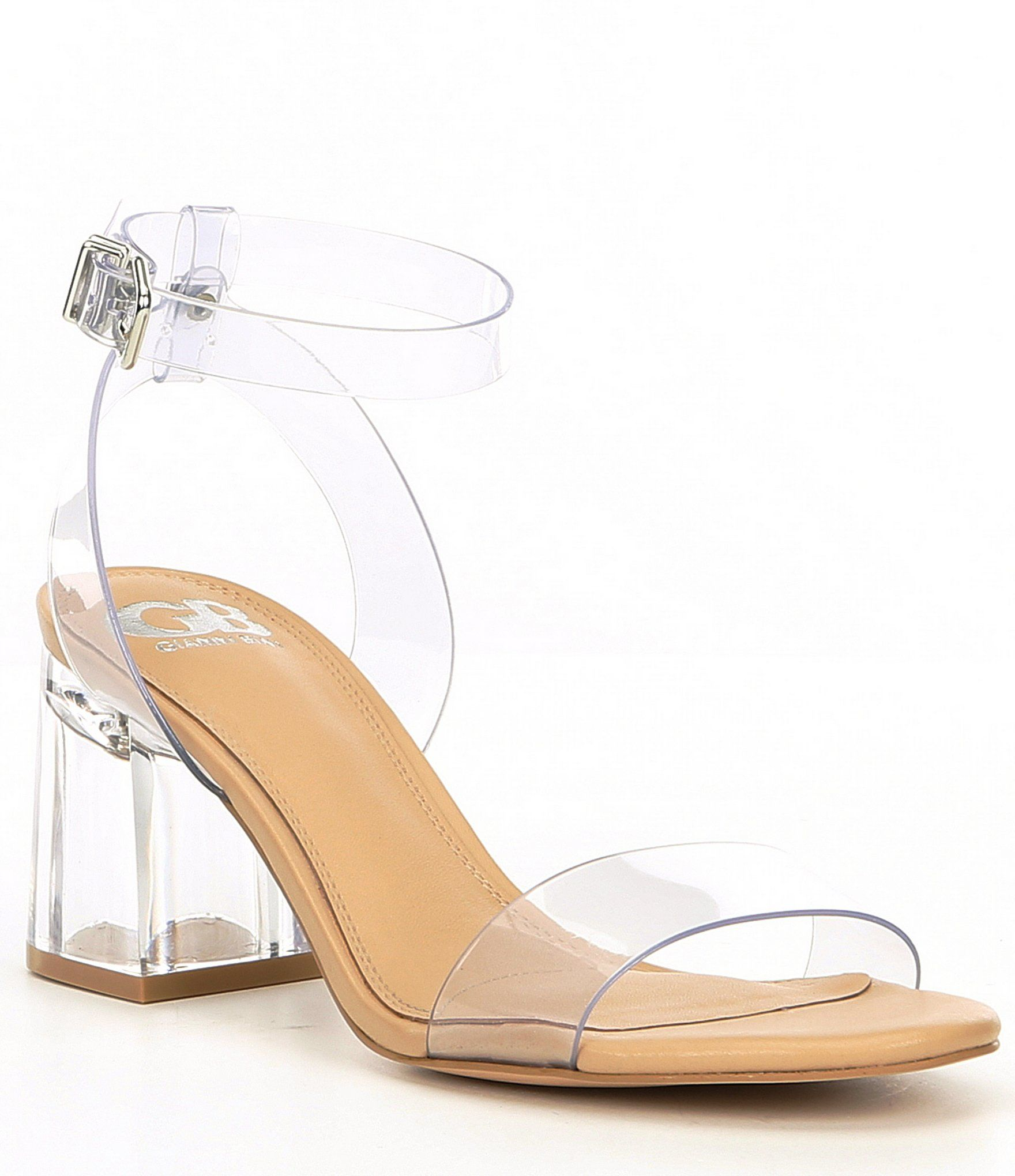 WOMENS LADIES ANKLE STRAP MID BLOCK HEEL PUMPS CLEAR STYLE SHOES SIZE UK