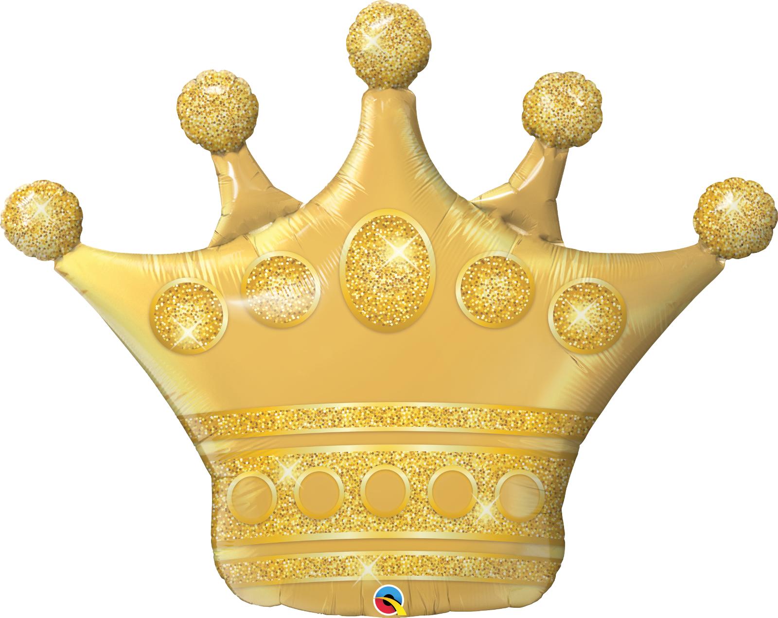 41 Golden Crown Shape Foil Balloon  Mylar Super Shape