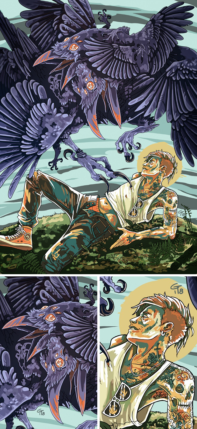 The Creation Of K An Amazing Collaboration Art Piece By Tyrni Tumblr Com K S Figure And By Kojotei Tumblr Com Stunning I Collaborative Art Raven Cool Art
