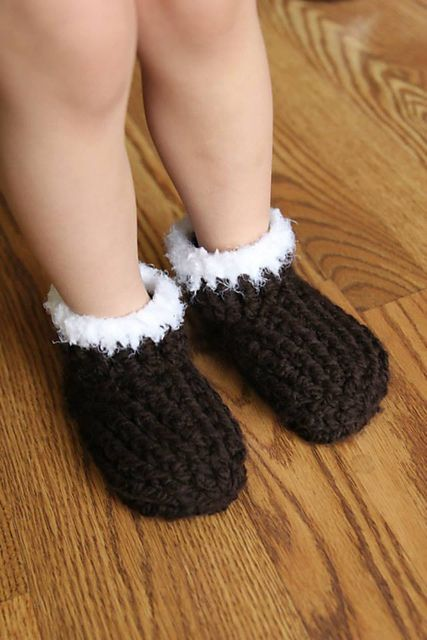 Kids Chunky Slippers Pattern By Crochet By Jennifer Crochet