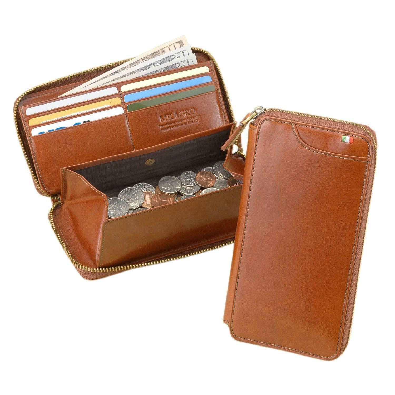 Amazon.co.jp: (ミラグロ) Milagro CAS2261 イタリアンレザー ラウンドファスナーギャルソンウォレット 長財布 テラローザシリーズ[BESPOKE ビスポーク]: シューズ&バッグ:通販