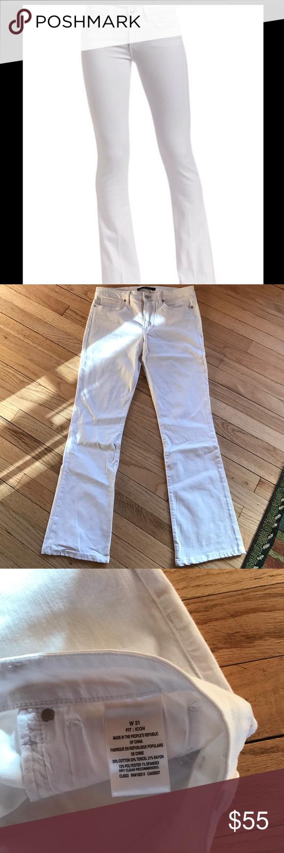 Joe's Icon bootcut jeans in white. Size 31 Worn 1-2 times. Great, flattering fit. Inseam 30 Joe's Jeans Jeans Boot Cut