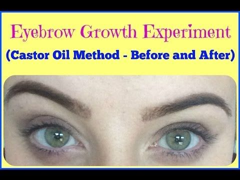 f1977508a54 EXPERIMENT: Does Castor Oil Make Eyebrows Grow? Before and AFTER (My  Experience) - YouTube