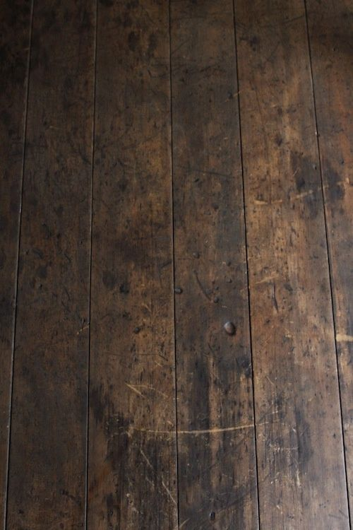 Old Dark Weathered Rustic Wood Floor