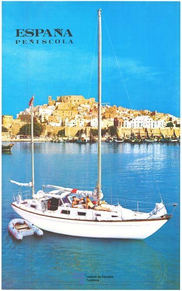 Peñiscola en la Comunidad Valenciana en un cartel de #turismo de España del año 1969 / subido por #Viajology