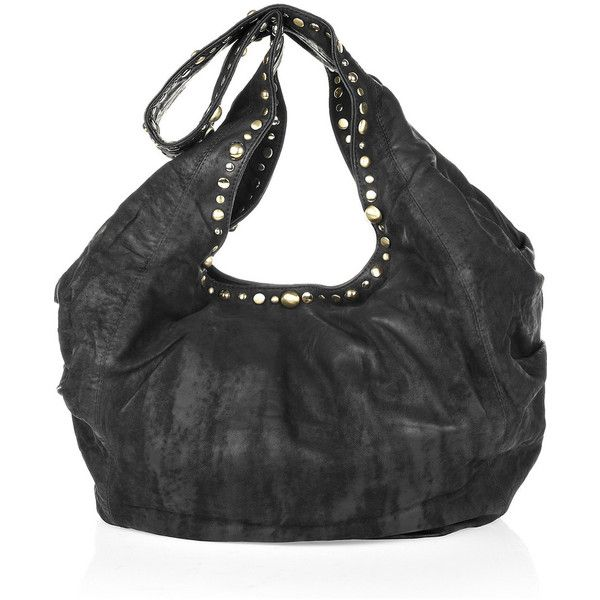 Sara Berman Decca Midi studded slouch bag (€260) ❤ liked on Polyvore
