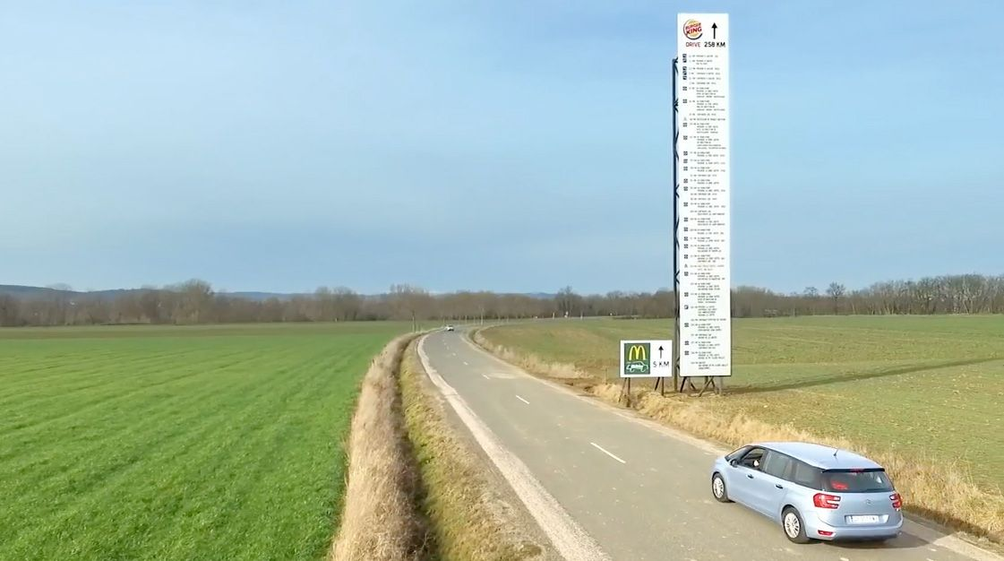 Here is 2016's most obnoxious (but fun) billboard so far.McDonald's has  more than 1,000 drive-thru locations in France… | Good comebacks,  Billboard, Give directions