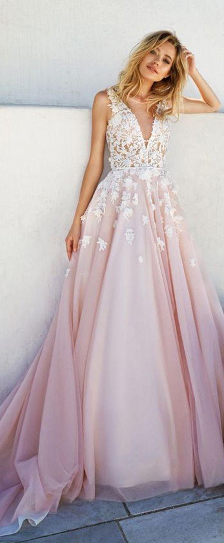 Romantic Tulle & Taffeta Scoop Neckline A-Line Wedding Dresses With ...