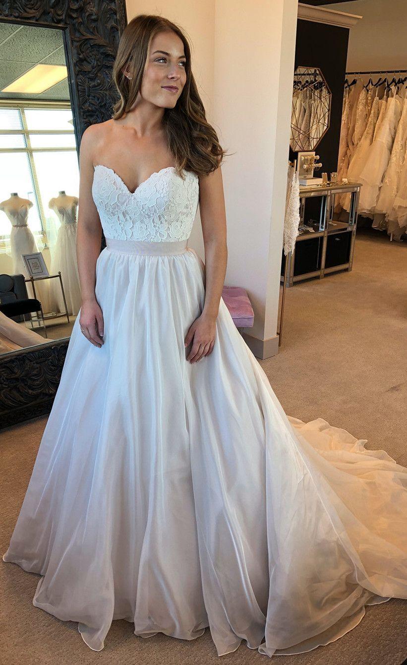 Luscious wedding dresses white simple aline sweetheart white long