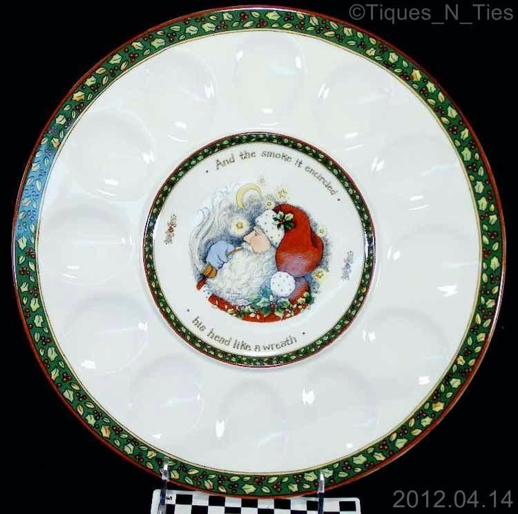 Portmeirion A CHRISTMAS STORY Deviled Egg Plate Serving Tray Susan ...