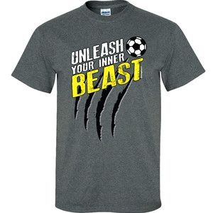 Image Sport - Unleash Your Beast Soccer Shirt from Aries Apparel-$18.00