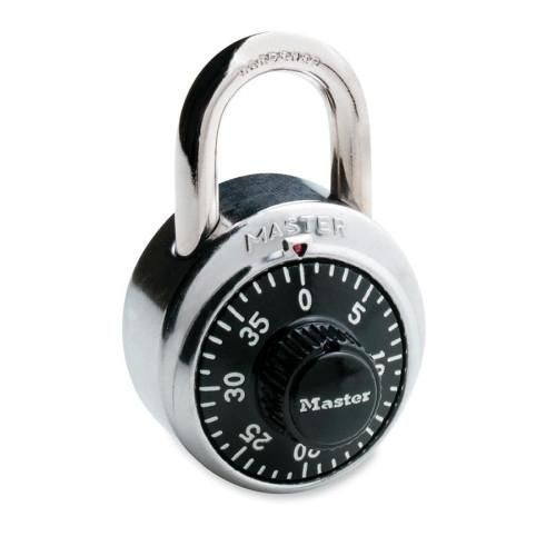 Master Lock Company Combination Padlock, 3 Number Dialing, Rust Resistant, Steel - 4 Units