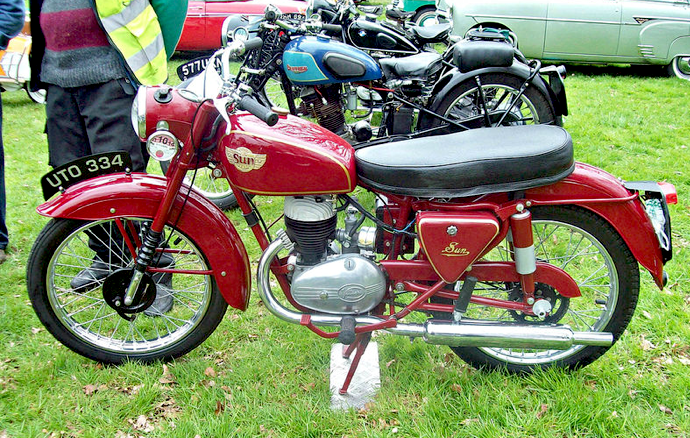 1955 Sun Challenger Single Cylinder 197cc Villiers Two-Stroke Engine