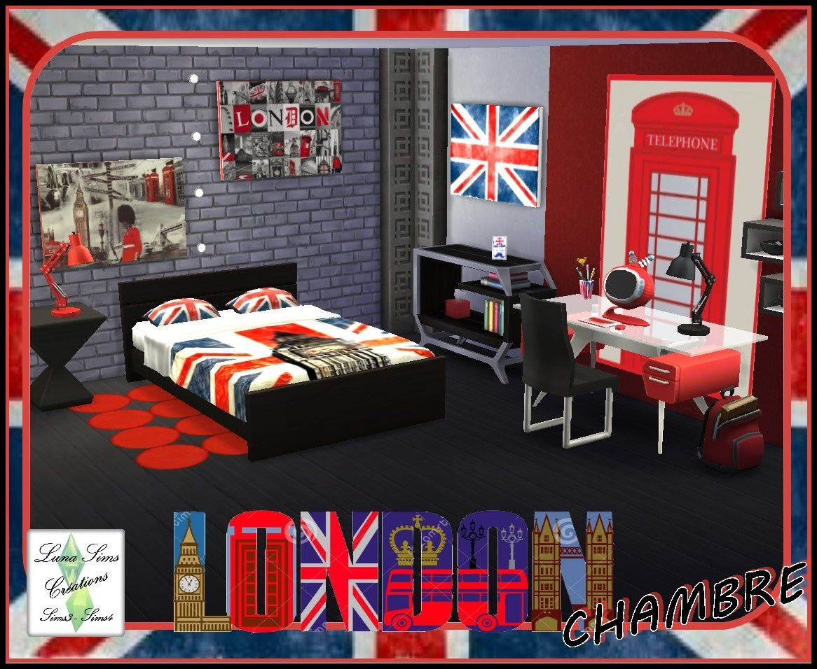 Ensemble chambre london luna sims mes recolorations sims4 pinterest s - Decoration chambre london ...
