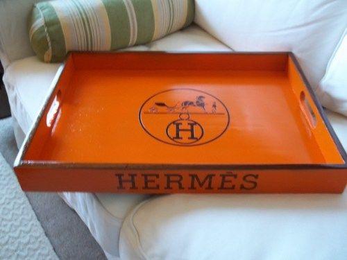 ba105e0dfbe Orange Hermes Tray   Our Livingroom   Paris logo, Hermes, Hermes orange