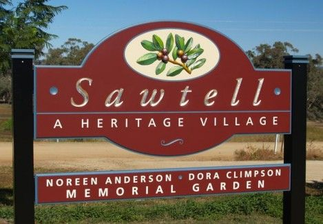 Sawtell Village Entry Sign