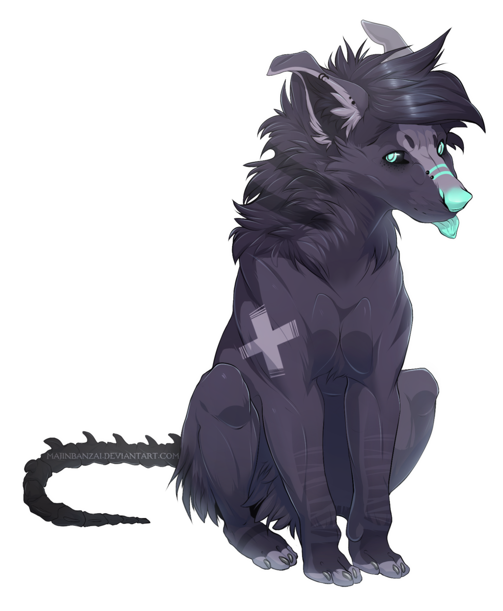 Ych Duskyfang Cute Animal Drawings Canine Art Wolf Character