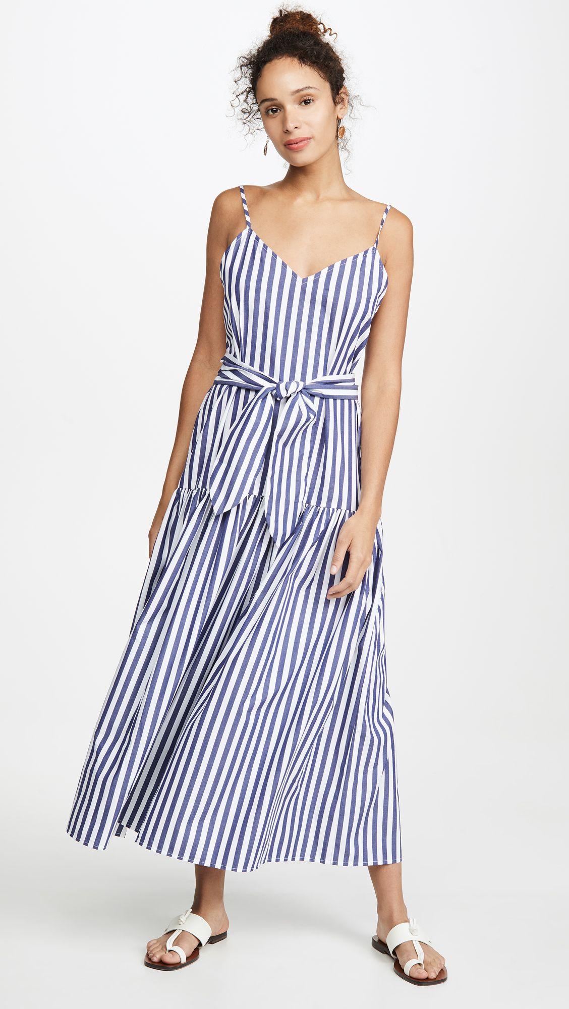 Blue Stripe Maxi Dress Dresses Fashion Clothes Women Blue Striped Maxi Dress [ 2000 x 1128 Pixel ]