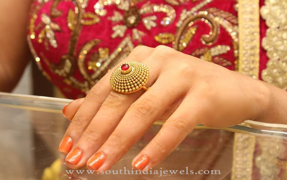 854a06c2a Gold Bridal Ring Design, Gold Statement Rings for Weddings, Big Gold Rings  for Marriage.