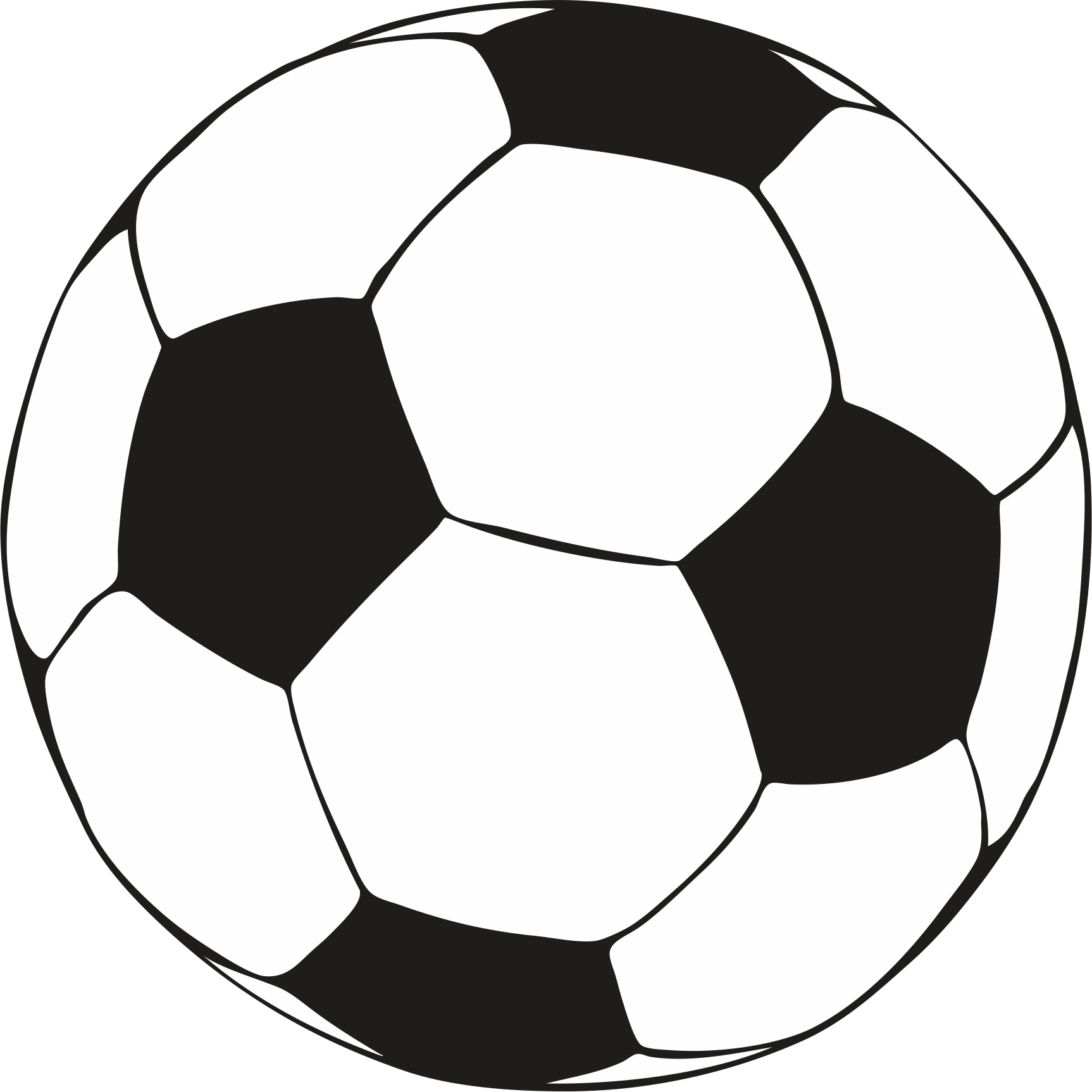 Clean image within printable soccer ball template