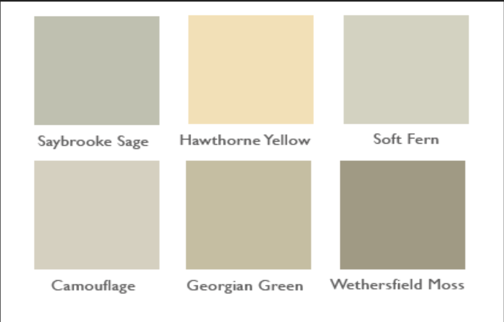 Benjamin Moore Paints Hawthorne Yellow And Soft Fern Are Stunning