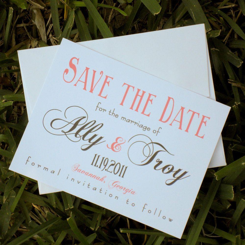 Savannah Destination Wedding Save the Date Cards. 2.50