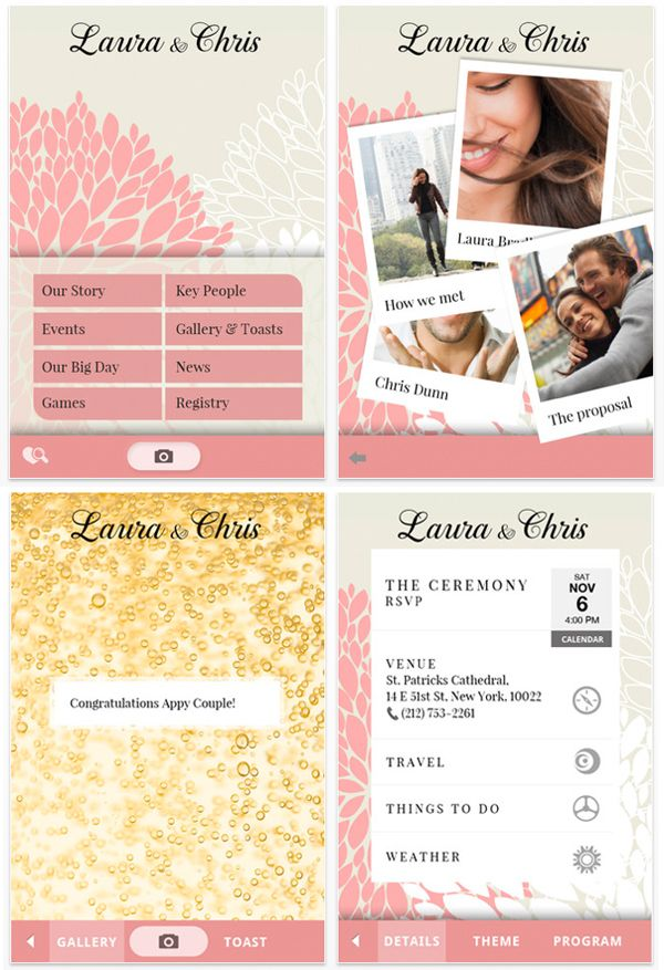 Make Your Own Wedding App For People To Meet Bridal Party Find