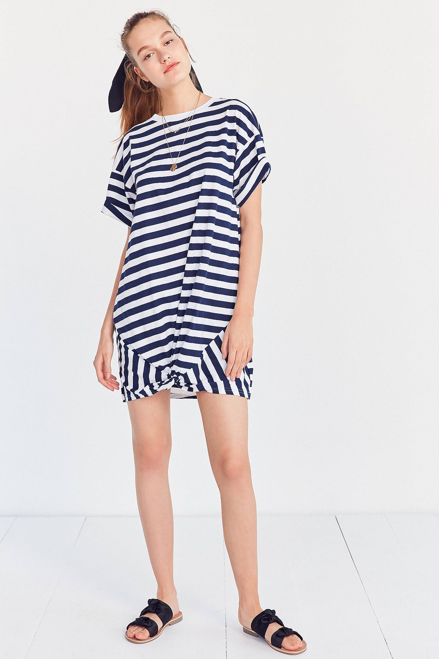 a5ee51283b2 Slide View  3  The Fifth Label Off Duty Striped T-Shirt Dress