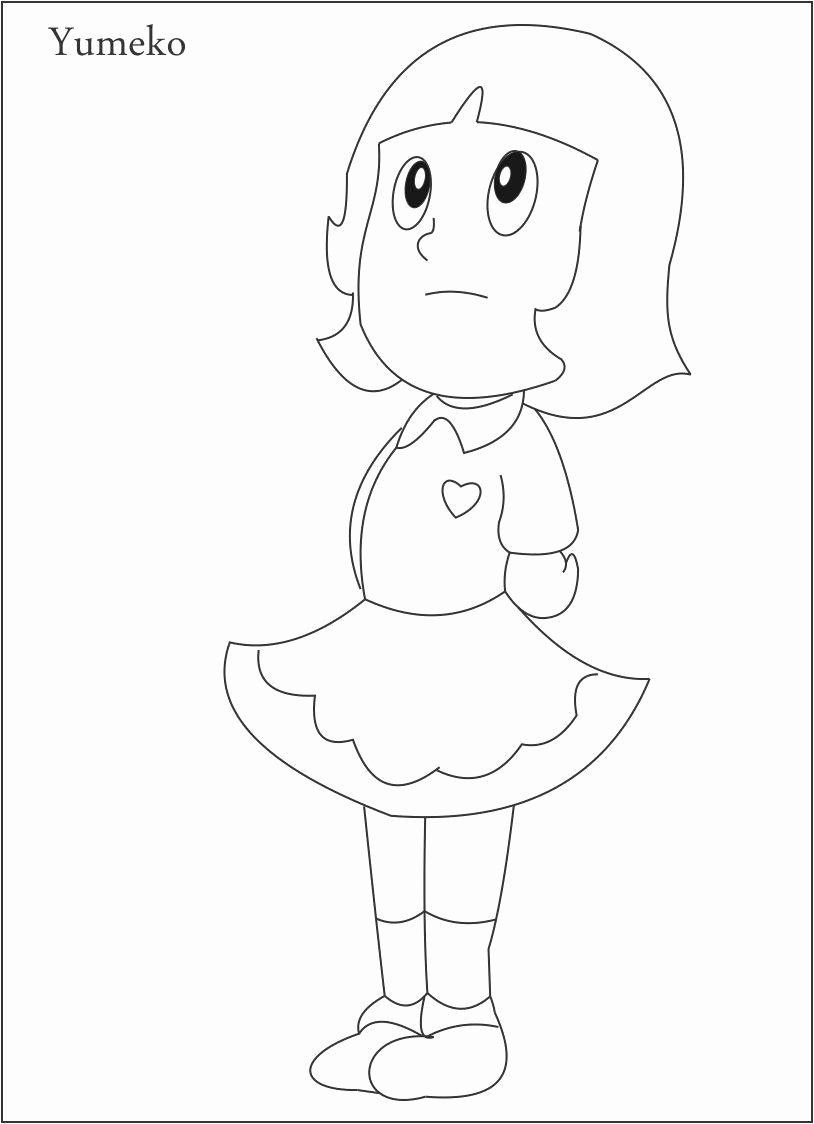 Coloring Images For Kids Elegant Yumeko Coloring Page For Kids