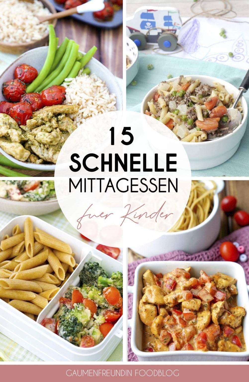 15 schnelle und gesunde Mittagessen für Kinder und die ganze Familie