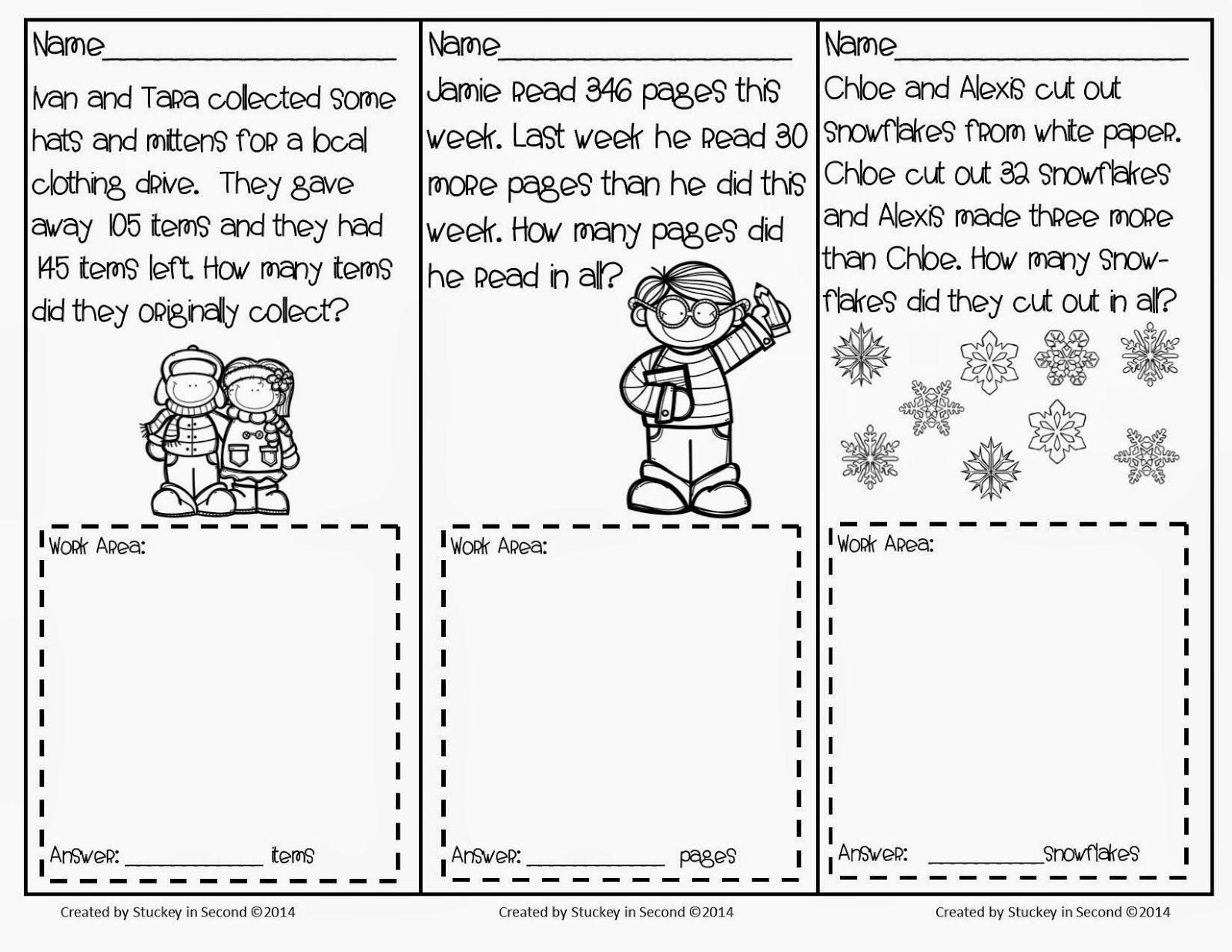 January Math Problem Solving Tasks   Ideas From my Blog!   Pinterest ...