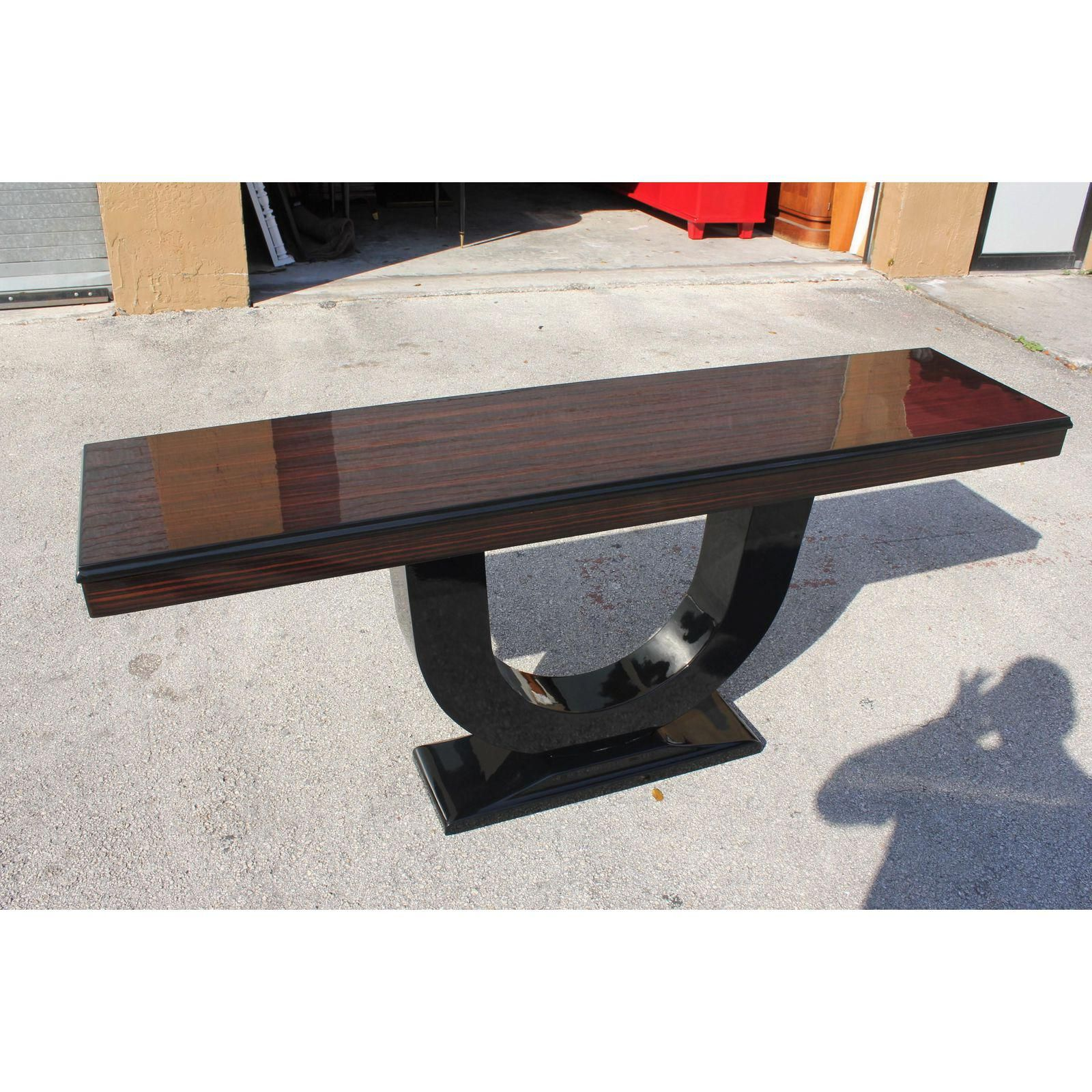 French art deco macassar ebony console table french art console french art deco macassar ebony console table geotapseo Image collections