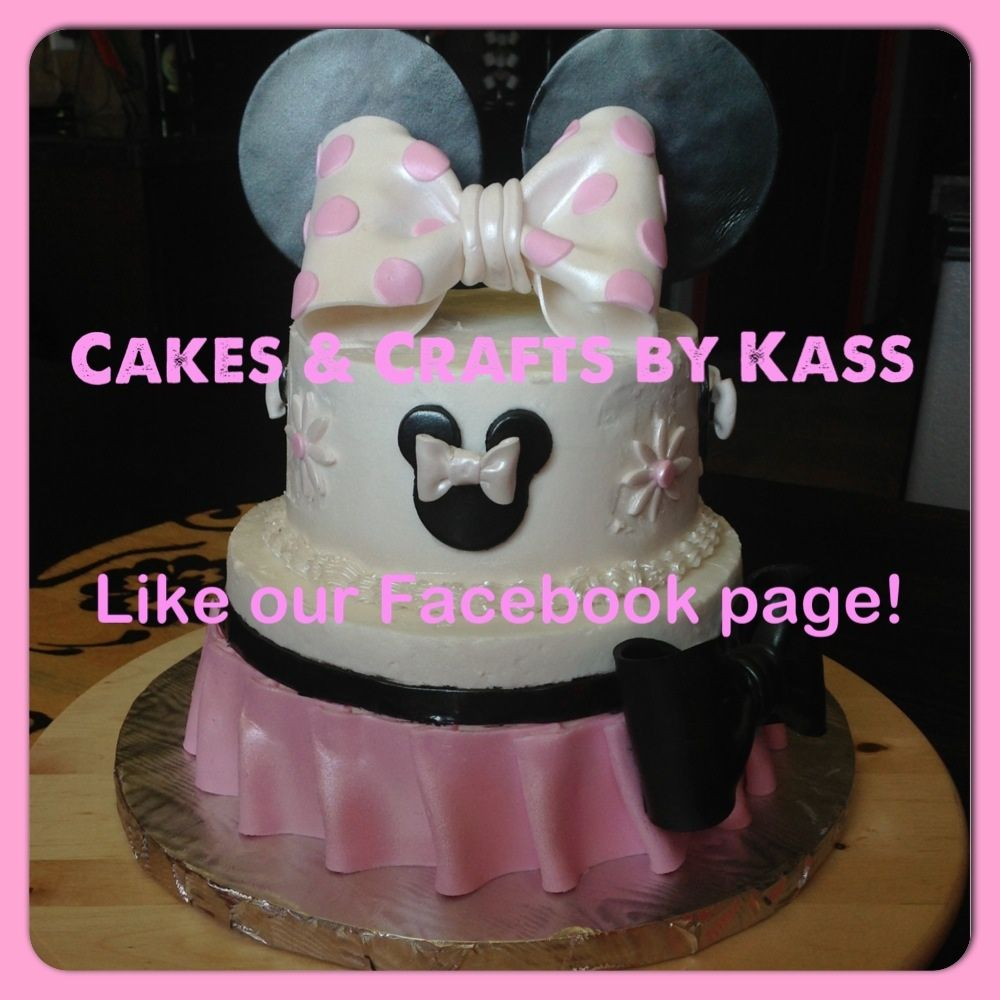 Cakes By Kass Minnie Mouse Cake in buttercream. Ruffled