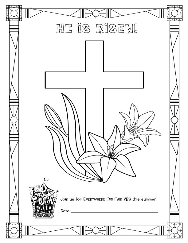 easter coloring pages for sunday school | To be used at Sunday School, Easter Sunday!! | VBS 2013 ...