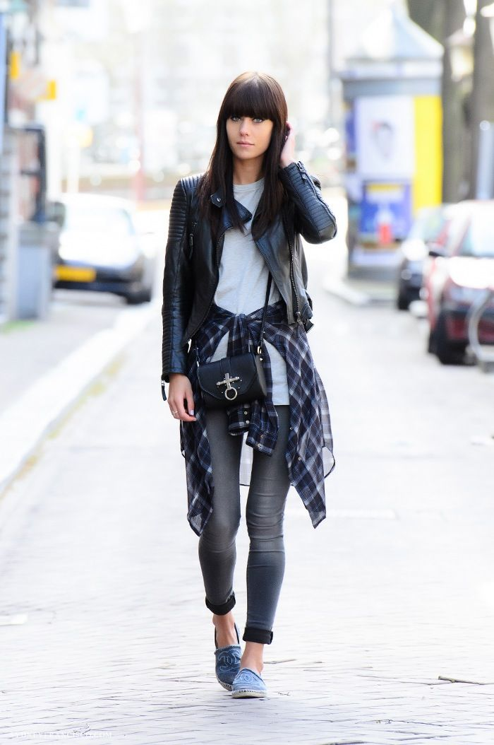 black leather jacket street fashion 22 Ways to Style a Black ...
